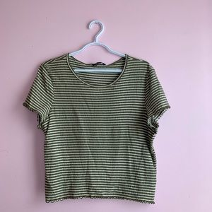 Striped Green Top